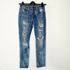 American Eagle Stretch Tomgirl Distressed Jeans
